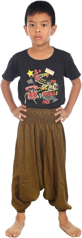 LOFBAZ Baby Infant Harem security Thai Aladdin Los Angeles Mall Bohe Pirate Pants Children
