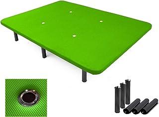 Duérmete Online Base Tapizada 3D Reforzada + 6 Patas, Verde con 4 Aireadores, 135x190