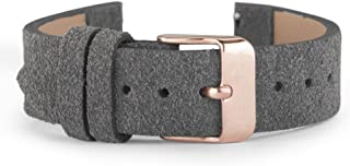 WRISTOLOGY Quick Release Easy Change Suede Leather Watch Band 3 Colors Interchangeable 18 MM