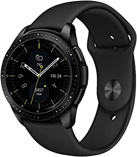 Pedfsy Band Compatible Samsung Galaxy Watch 42mm, Galaxy Watch Active, Gear Sport, 20mm Soft Silicone Resistant Strap Replacement Wristband for Women Men
