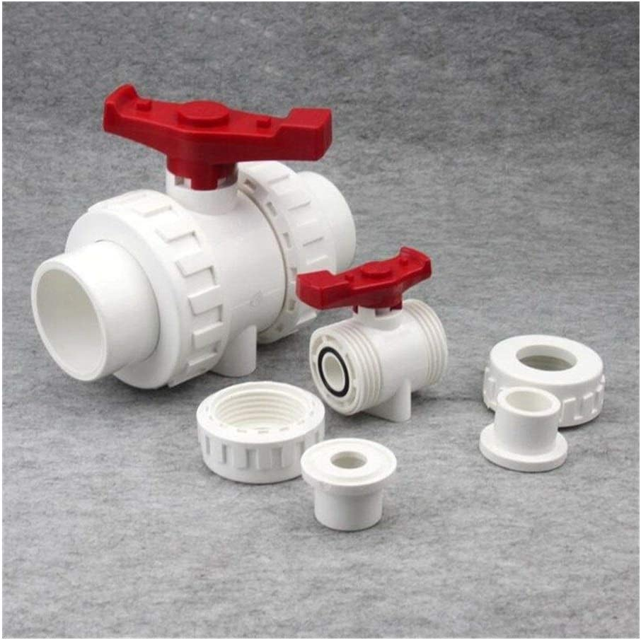 Specification : Inner32MM Tube Connector 3pcs White 20mm 25mm 32mm 40mm 50mm PVC Ball Valve Union Valve PVC Water Pipe Connector Plumbing Hose Fittings Slip Shut Valve Drip Irrigation Fittings Kit