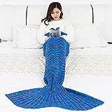 Manta de sirena para mujer Croché 180x90cm