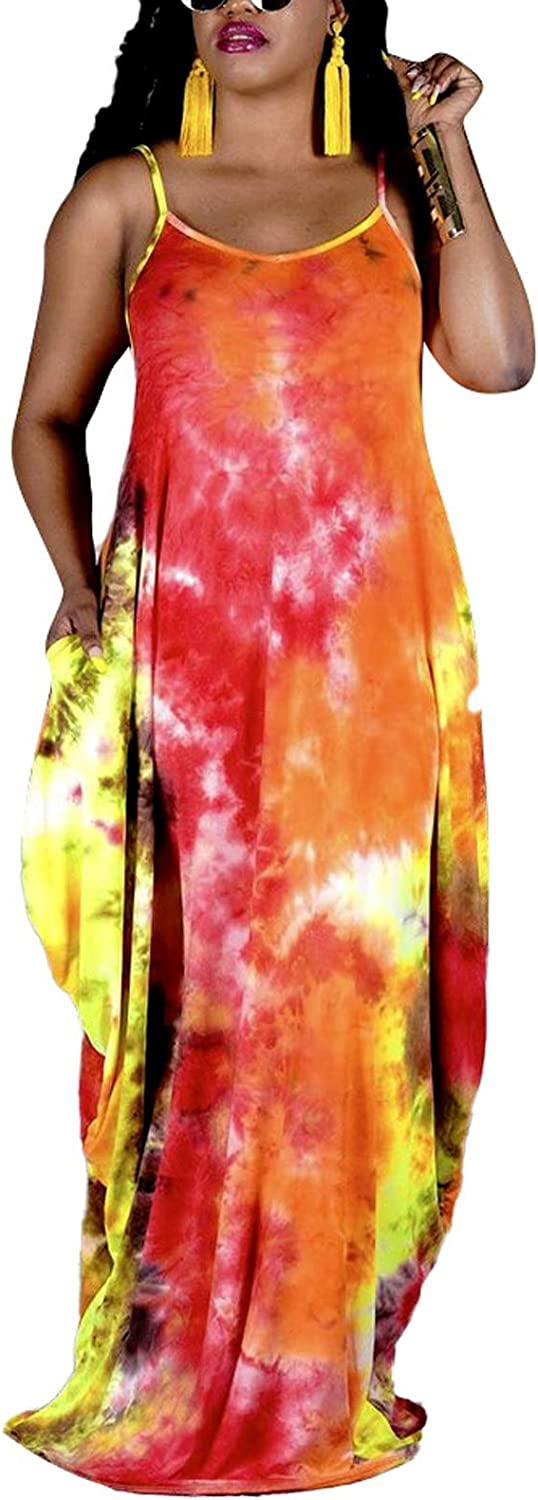 shengfan Plus Size Maxi Dresses for Printed Women Easy-to-use Loose Sundress famous