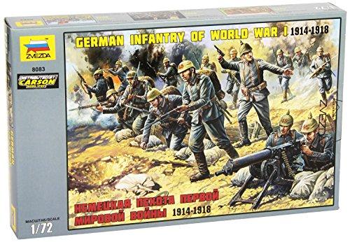 Zvezda 500788083 - 1:72 WW I Figuren-Set Deutsche Infanterie