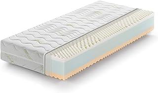comprar comparacion Marcapiuma - Colchón viscoelástico Cuerpo y Medio Memory 105x190 Alto 22 cm - Rainbow - H2 Medio 5 Zonas - Producto Sanita...