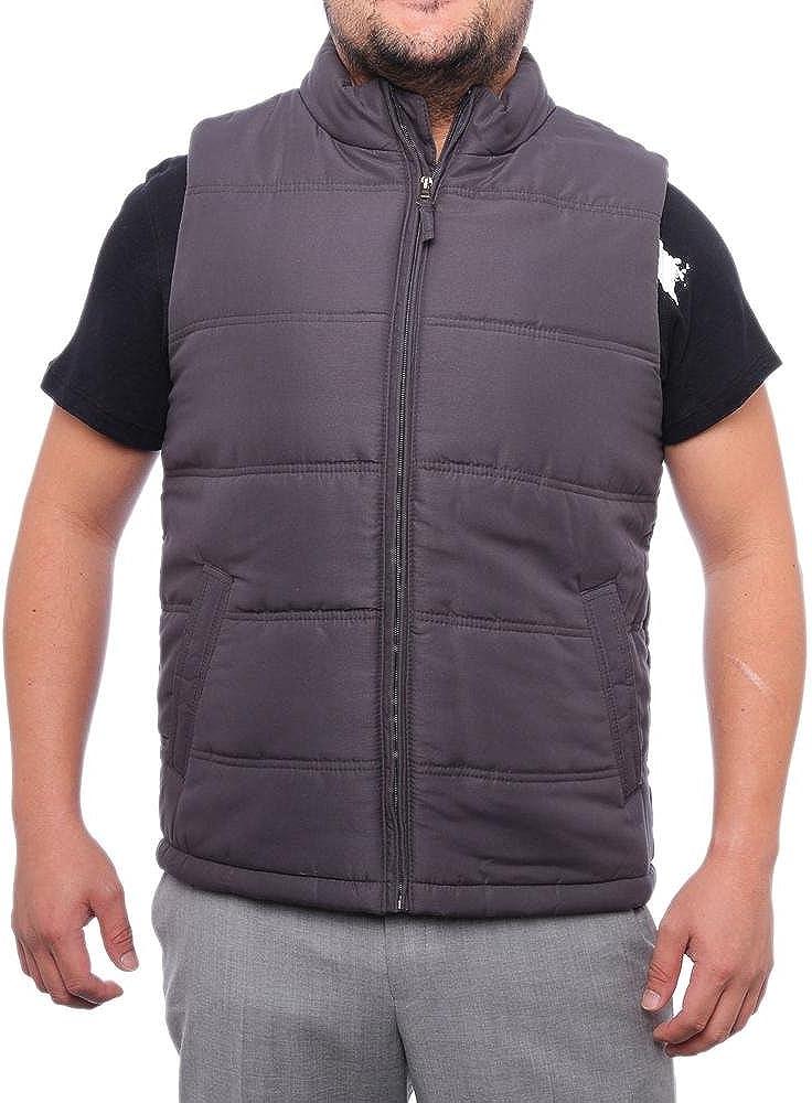 Weatherproof Mens Puffer Full Zip Outerwear Vest Gray L