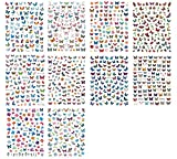 10 Sheets Butterfly Nail Stickers, Self-Adhesive Beautiful Butterfly Nail Art Sticker Decals Manicure Nail Tip Decoration