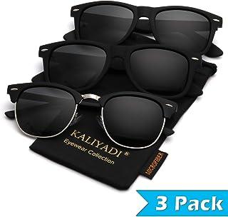 Mens Polarized Sunglasses for Women Semi Rimless Frame...