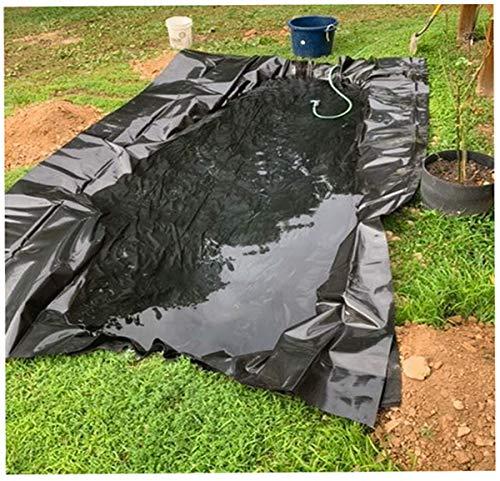 Vijver Liner 1M Brede Zwarte Vis Pool Liner voor Tuin Vijvers Waterval Streams Fonteinen Vijver Underlayment Tuin Pool Cover Streams Water Tuinen Pool Membraan, 0.2mm T (Grootte: 1×5m (3.9×50ft), Kleur: 20S)