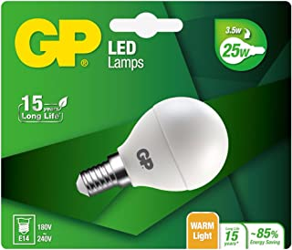 GP Battery GP Lighting LED Mini Globe E14 3.5W (25 W) 250 lm 多种颜色