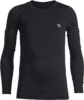 BALEAF Youth Boys'/Girls' Thermal Compression Sports Shirts Long Sleeve Fleece Base Layer Crew Neck