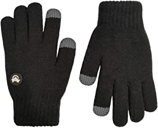 Kids Touchscreen Knit Gloves,Winter Solid Black Children...