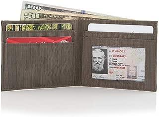 Slim Nylon ID Wallet - Pebble Brown