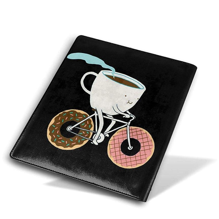 成功した発明するアンタゴニストBook Cover ブックカバー 防水 PUレザー(ノートブック用)プリント ヴィンテージ Size 28*51 Cm コーヒー乗馬ドーナツ