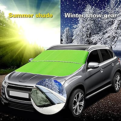 FLY5D Auto Car Windshield Snow Cover Sun Shade Frost Proof Dual Use Cover