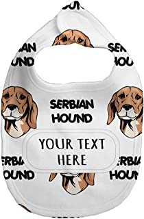 Fleece Bib Custom Serbian Hound Dog Breed Pattern Unisex Children, One Size
