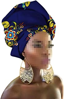Women African Cancer Chemo Hat Beanie Scarf Turban Head Wrap Cap