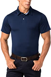 LAPASA Men's Performance Polo Short Sleeve, Quick Dry Sports T-Shirt, UPF50+ (98% UV Cut), M49