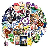 Kilmila Stickers for Super Smash Bros 100PCS (with Ultimate Smash Ball Key Chain).Gifts Super Smash Bros Merch Party Supplies for Laptop Water Bottle Bike Car Luggage Skateboard Graffiti