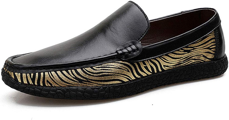 Peas shoes Leather Men's Trend Wild Driving shoes Casual Men's shoes