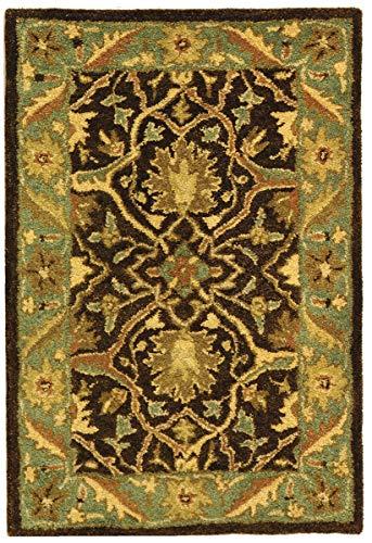 Safavieh Antiquities Collection AT14A Teppich, traditionell, orientalisch, elfenbeinfarben Traditionell 2' x 3' Brown/Blue