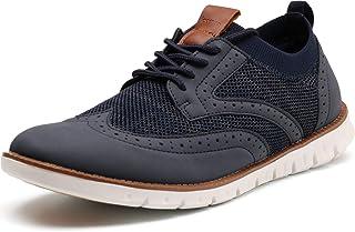 Men's Knit/Leather Wingtip Oxford Dress Shoes