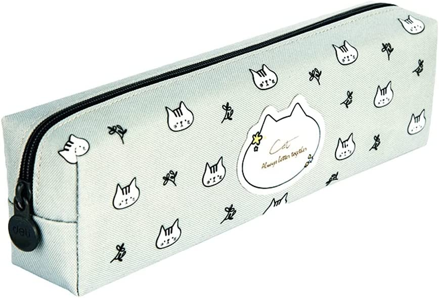 Pencil case In stock Large-Capacity Polyester Zipper Case Portable Elegant