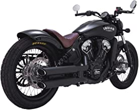 Vance & Hines 15-17 Indian Scout Twin Slash Rounds Slip-On Exhaust (Black / 3