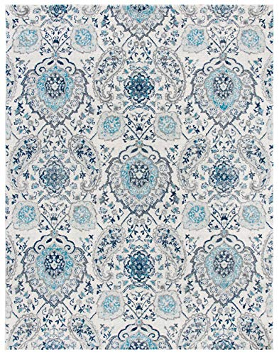 Safavieh Madison Collection MAD600C Boho Chic Glam Paisley Non-Shedding Stain Resistant Living Room Bedroom Area Rug, 6'7