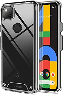 X-level Google Pixel 4a Case Clear Slim Soft TPU + Hard PC with Anti-Drop and Shockproof Bumper Anti-Yellowing Protective...