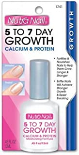 Nutra Nail 5 to 7 Day Growth Calcium Formula (13 ml), 0.45-OunceBottles (Pack of 4)