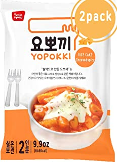 Instant Cheese Tteokbokki Rice Cake | Pack Of 2 Popular Korean Snack With A Spicy Sauce (cheese)