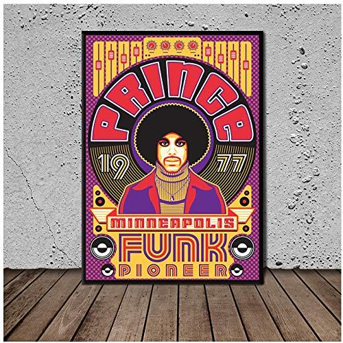 Mural Prince Minneapolis Funk Pioneer póster pintura sobre lienzo carteles e impresiones cuadro de pared para sala de estar-20X28 sin marco