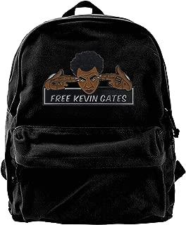 RobertAGonzalez Kevin Gates Canvas Backpack School Bag Laptop BookbagsTravel Daypack College Student Rucksack 15.7in