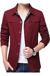 Britainlotus Men/'s New Windproof Down Puffer Jacket Lightweight Packable Outdoor Coat