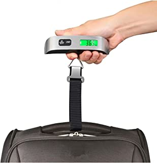 ILS - Portable Digital Luggage Scale LCD Display Travel Hook Hanging Weight 110lb 50kg