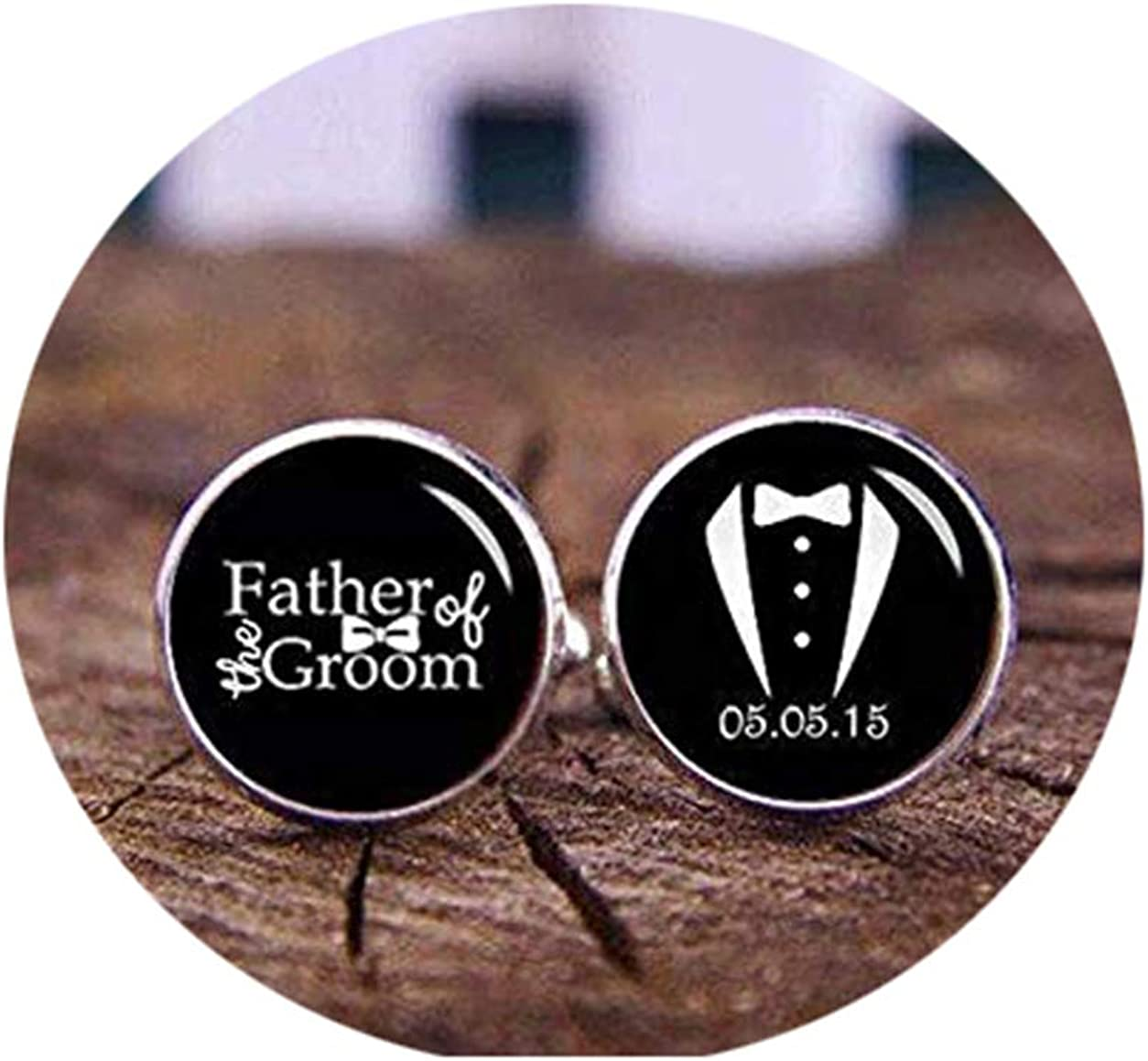 Death Devil Custom Cuff Links,Father of The Groom, Suit Up, Custom Wedding Cufflinks, Personalized Wedding Cuff Links, Groom Cuff Links, Custom Date, Initial, Name, Photo,Gift of Love