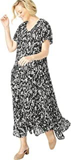 Woman Within Women's Plus Size Petite Crinkle Dress