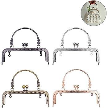 Healifty 4pcs Sac /à Main Cadre Sac /à Main Porte-Monnaie Kiss Fermoir Serrure DIY Sac /à Main Faisant Artisanat 8.5cm
