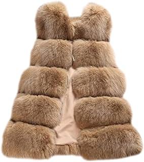 06813f32ed0e Women's Gilet Outwear Slim Long Vest Faux Fur Waistcoat Jacket Coat Top