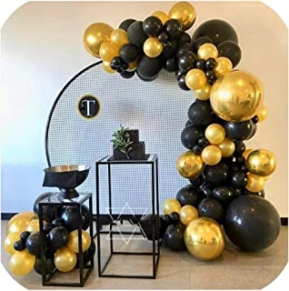 Merry-Heart Artificial Wedding Home Party Backdrop Stand Round Grid Iron Arch mesh Gold White Black Grid Iron Arch Stand Geometry Shelf,1.8m,Black Circular Grid