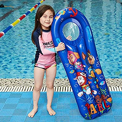 JESSICAR Inflatable Swimming Pool Float Mat Swim Raft for Pool Party, Kids Floating Mattress Surfboard with Handles, Boys/Girls Float Toy at Water Lounge