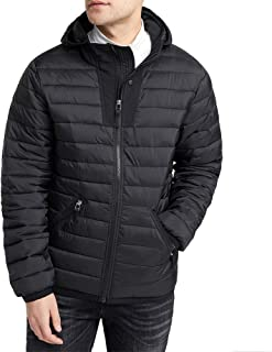 ATUBACK Men's Waterproof Puffer Jacket, Packable Lightweight Winter Down Jackets for Men