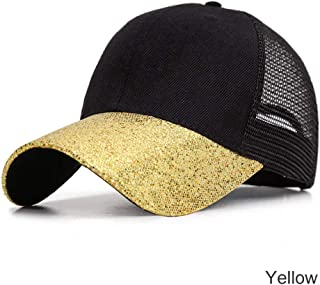 MKJNBH Fashion Design Patchwork Glitter Baseball Caps Women Breathable Outdoor Men's Hat Summer