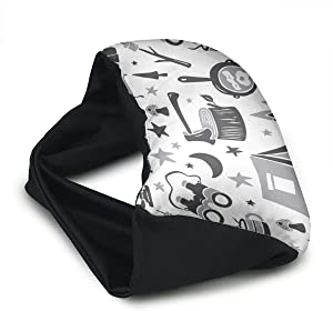 Voyage Travel Pillow Eye Mask 2 in 1 Portable Neck Support Scarf Camp Life Grey Ergonomic Naps Rest Pillows Sleeper Versatile for Airplanes Car Train Bus Home Office