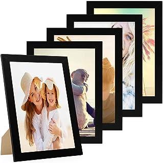 MYA 1Pc Cadre Photo en Bois,Bricolage B/éb/é Main Pied Imprimer Cadre Photo,B/éb/é Enfants Pied Main Doigt Cadre Photo Ensemble,Tampon Encreur Souvenirs Photo Cadre M/émoire Cadeau