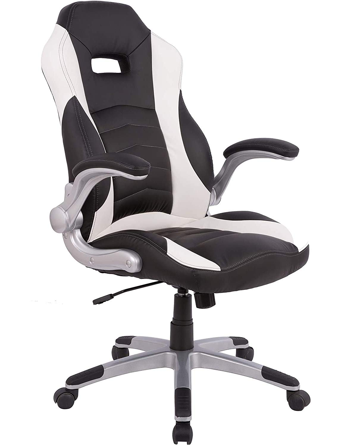 PC Gaming Chair Racing Office Computer Game Chair Ergonomic Office Chair Desk Chair with Adjustable Height and Armrest, PU Leather Executive High Back Computer Chair for Adults Men Women