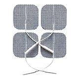 20 Stück selbstklebende Elektroden von der Marke ZEN-QI, 50x50 mm. Wiederverwendbar. Für TENS TIMS EMS Reizstrom-Geräte mit 2 mm-Stecker-Anschluss. -