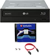 LG WH14NS40 14X Blu-ray BDXL DVD CD Internal Burner Drive Bundle with Free 4.7GB M-DISC..