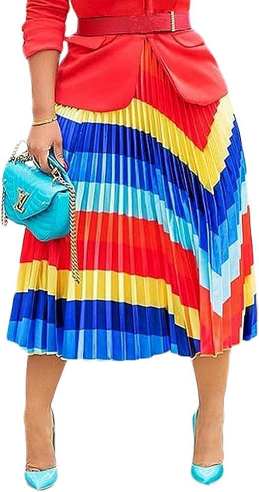 L ACC Women's Maxi Skirt Graffiti Letter Print A Line Flowy Skirt Midi Dress
